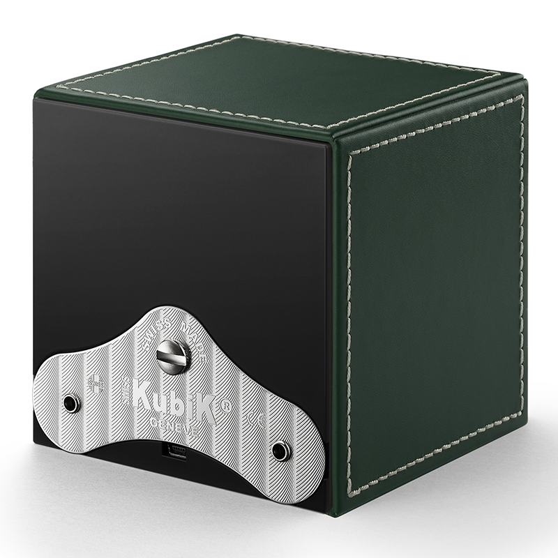 MASTERBOX Leather - Green Leather & White Stitches