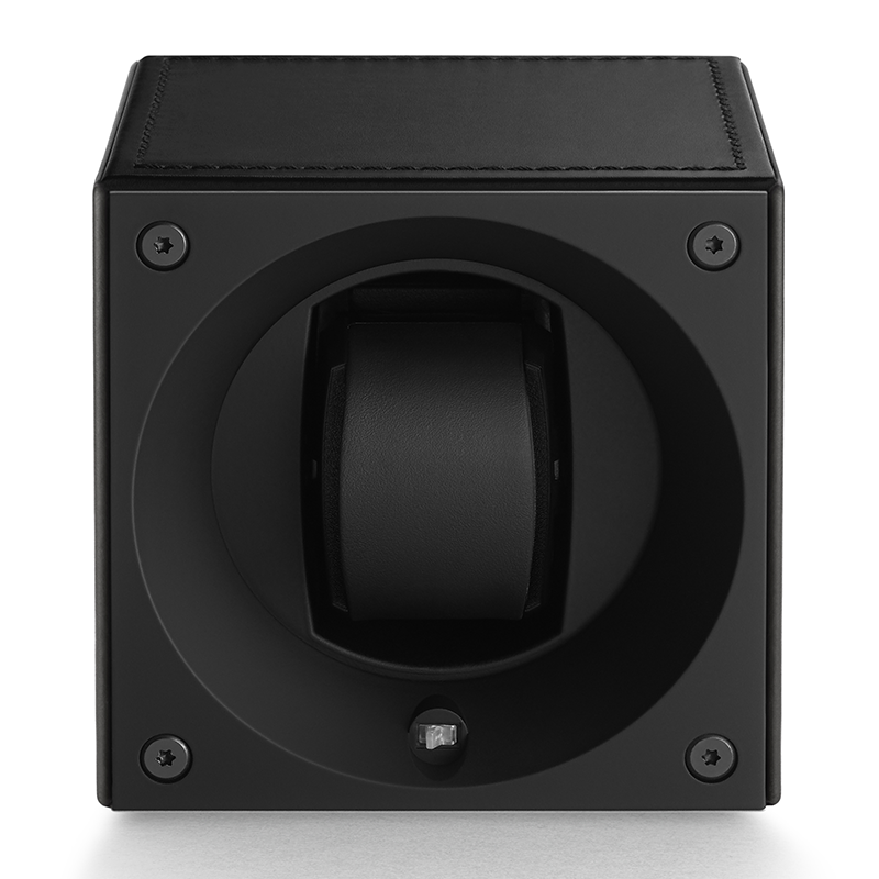 MASTERBOX Leather - Black Leather & Black Stitches
