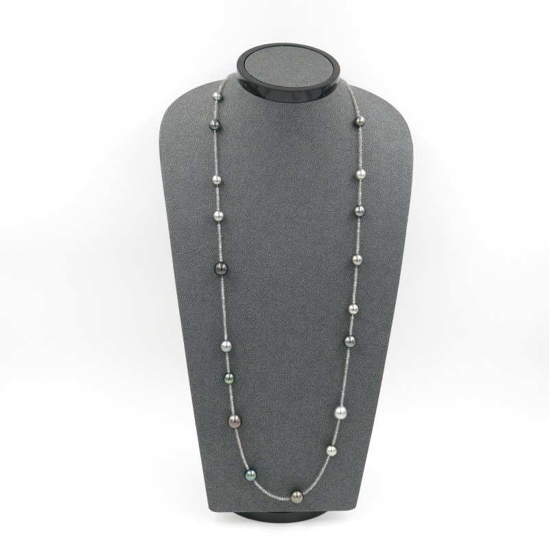 Fancy Tahitian Pearls Necklace