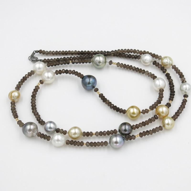 Classy Multicolor Pearls Necklace