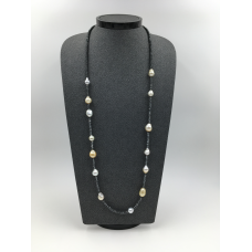 Fancy White and Golden South Sea Pearls Necklace