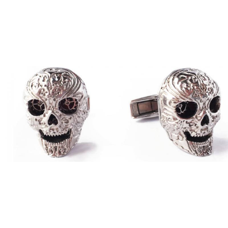 Skull - Stainless Steel Rhodium plated