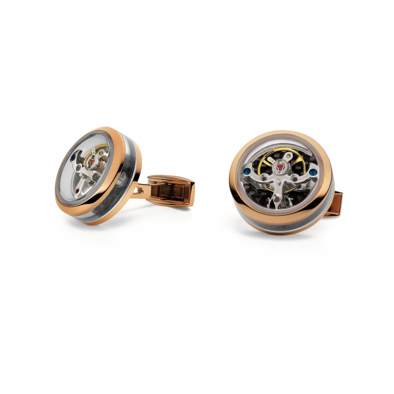 Tourbillon Openside - Stainless Steel Rose Gold plated