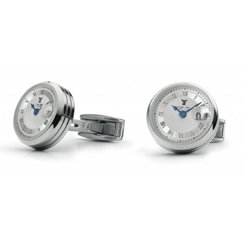 Big Date - Stainless Steel Rhodium plated
