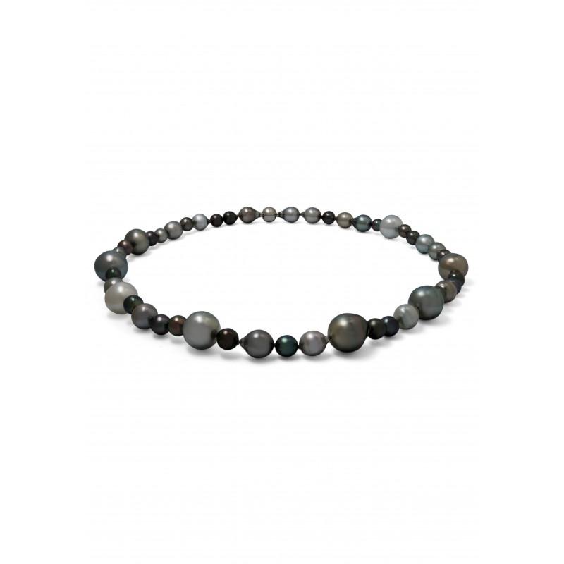 Fancy Tahitian Multicolor Pearls Necklace