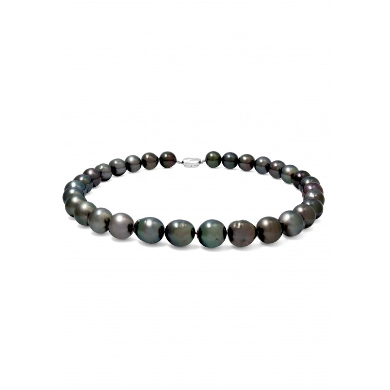 Rainbow Green Tahitian Pearls Necklace
