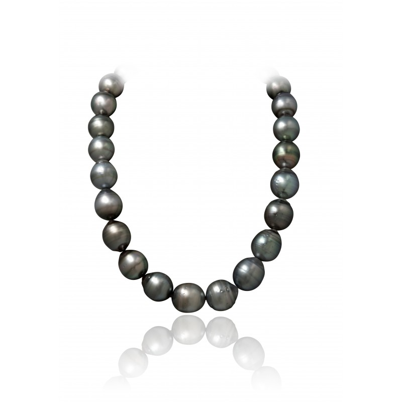 Rare Sized Tahitian Multicolor Pearls Necklace